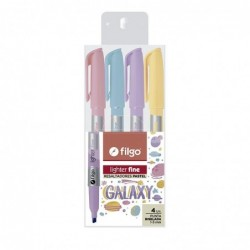 RESALTADOR FILGO LIGHTER FINE PASTEL GALAXY BLISTER X 4