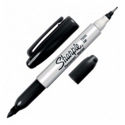 MARC SHARPIE PERMANENTE NEGRO DOBLE PUNTA