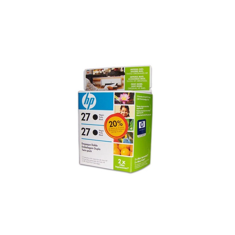 CART-INK-ORIG-HP-27-DUAL-PACK-C9322FL-NEGRO